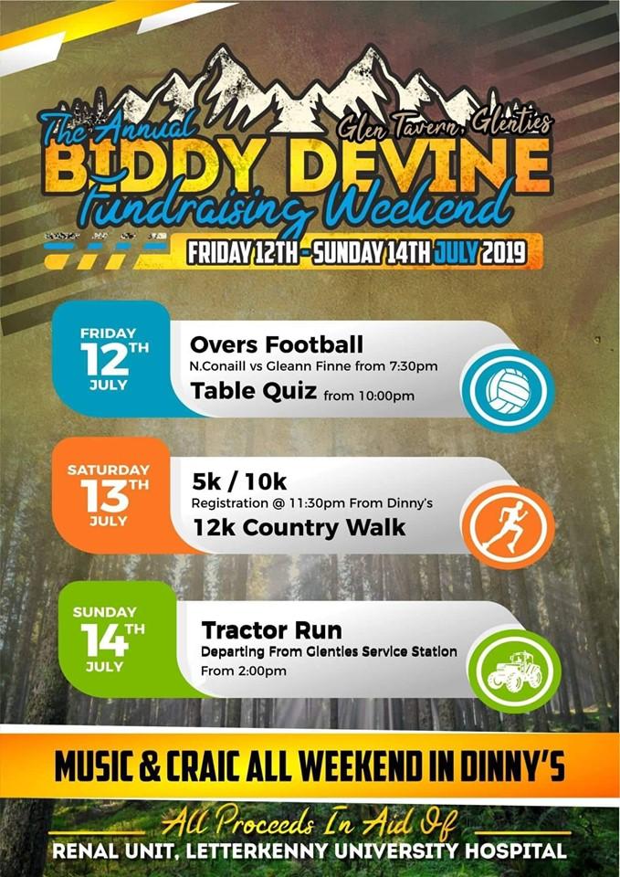 The Biddy Devine Memorial Fundraising Weekend