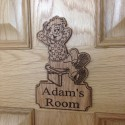 Beano Comic Personalised Door Plaque Sign Rodger the Dodger Wood Sign Gift