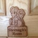 Frozen Style Personalised Door Plaque Name Kids Bedroom Anna Elsa Wood Sign