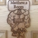 Incredible Hulk Personalised Door Plaque Sign Kids Bedroom